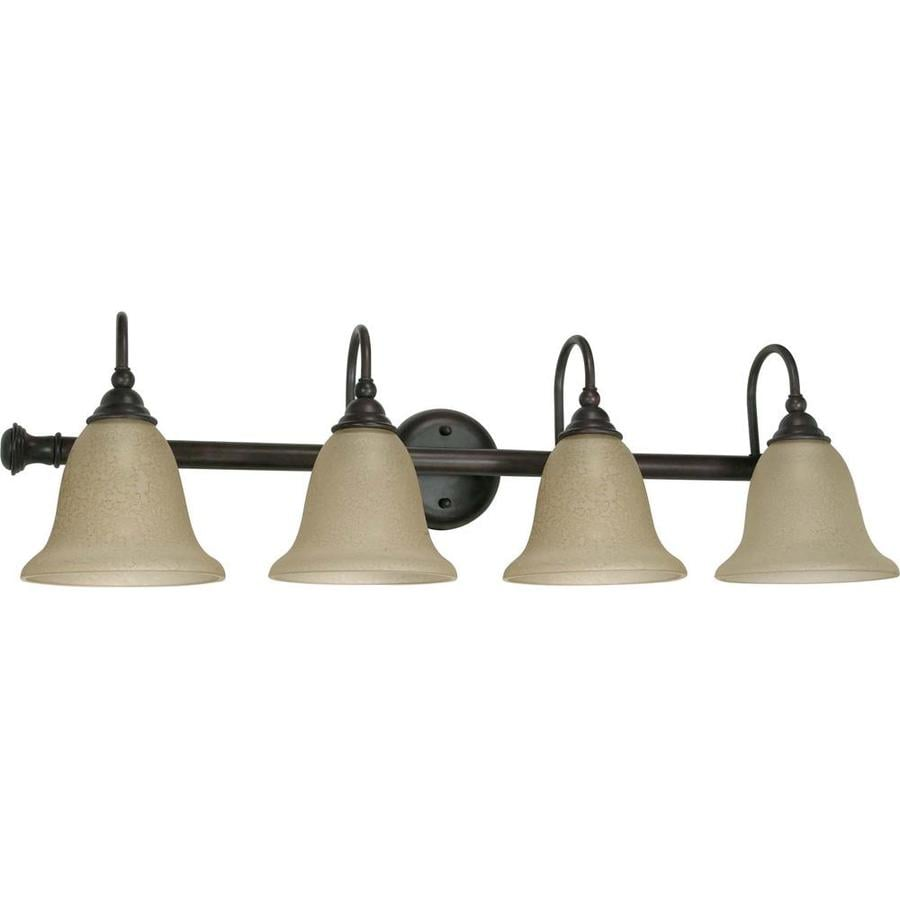 Mericana 4-Light 9.125-in Old bronze Vanity Light