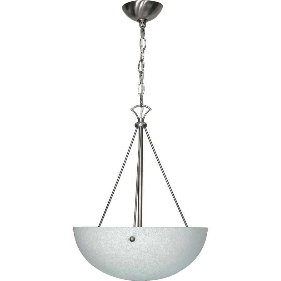 South Beach 16.5-in Brushed Nickel Single Bell Pendant