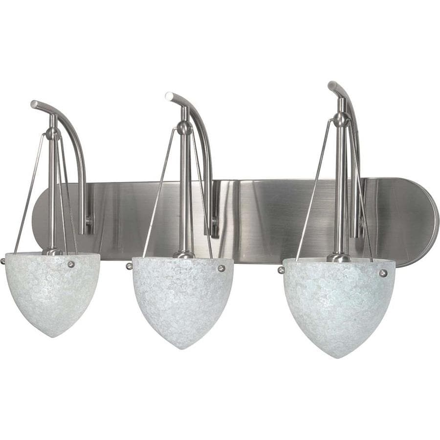 South Beach 3-Light 13-in Brushed nickel Vanity Light