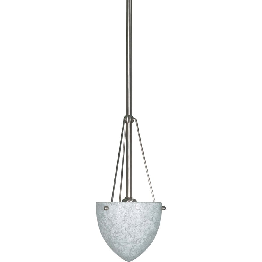 South Beach 14-in Brushed Nickel Mini Bell Pendant