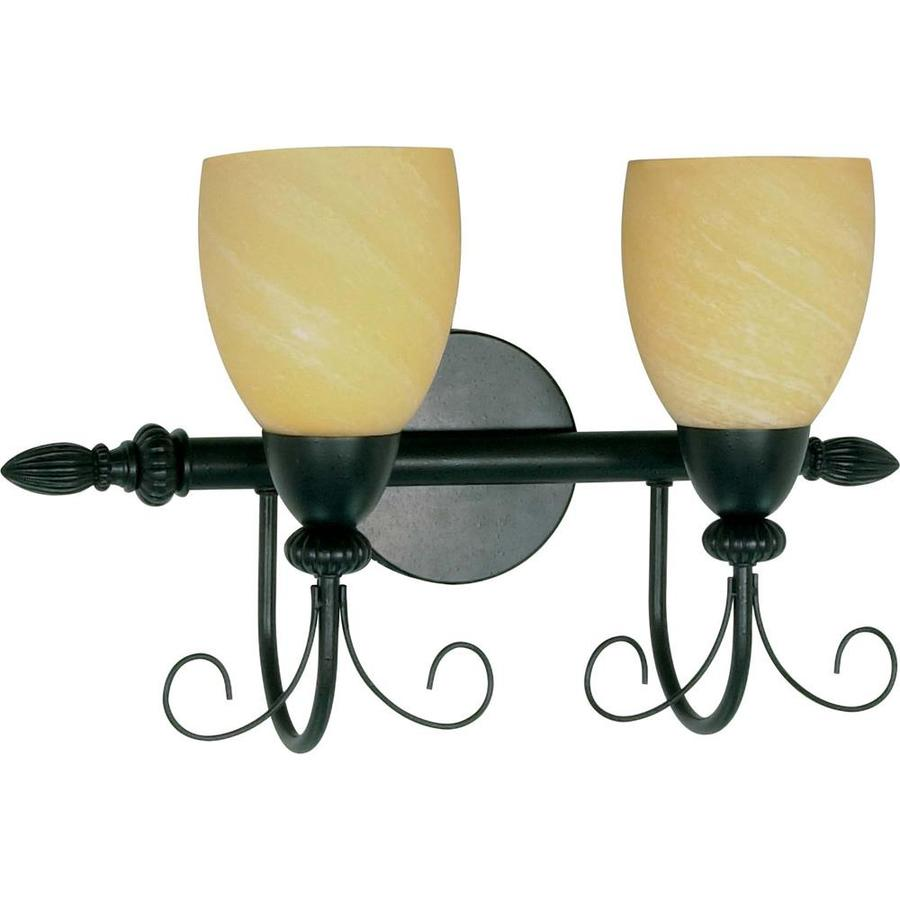 Shop Vanguard 2-Light 12-in Textured Black Vanity Light at Lowes.com