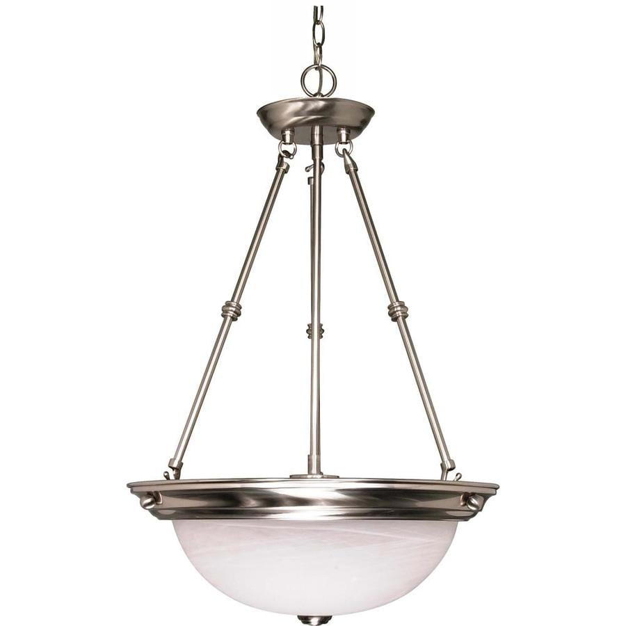 Vanguard 16-in Brushed Nickel Single Bell Pendant