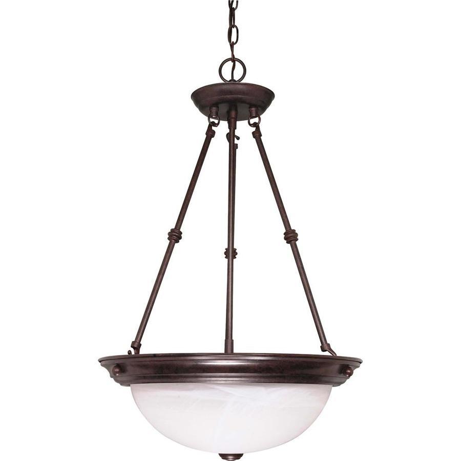 Vanguard 16-in Old Bronze Single Bell Pendant
