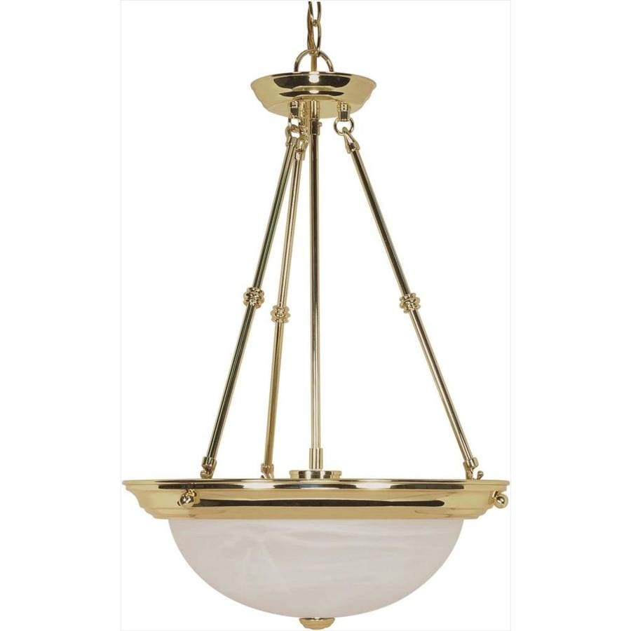 Vanguard 16-in Polished Brass Single Bell Pendant