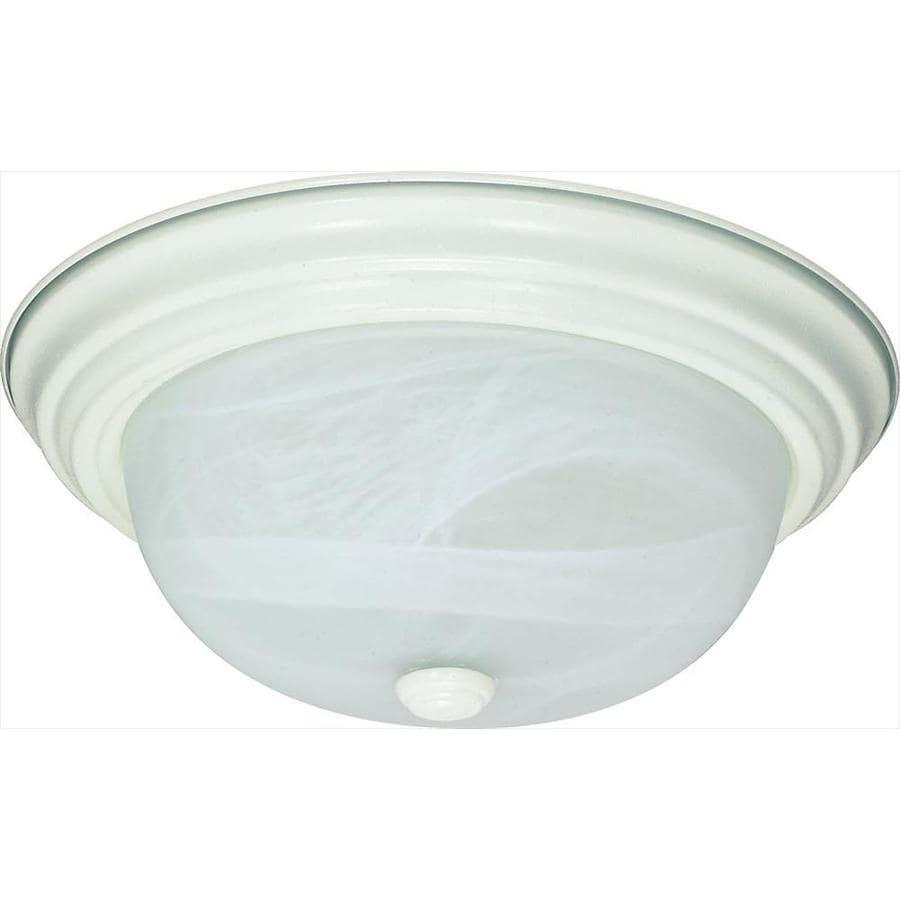 11.37-in W Textured White Standard Flush Mount Light