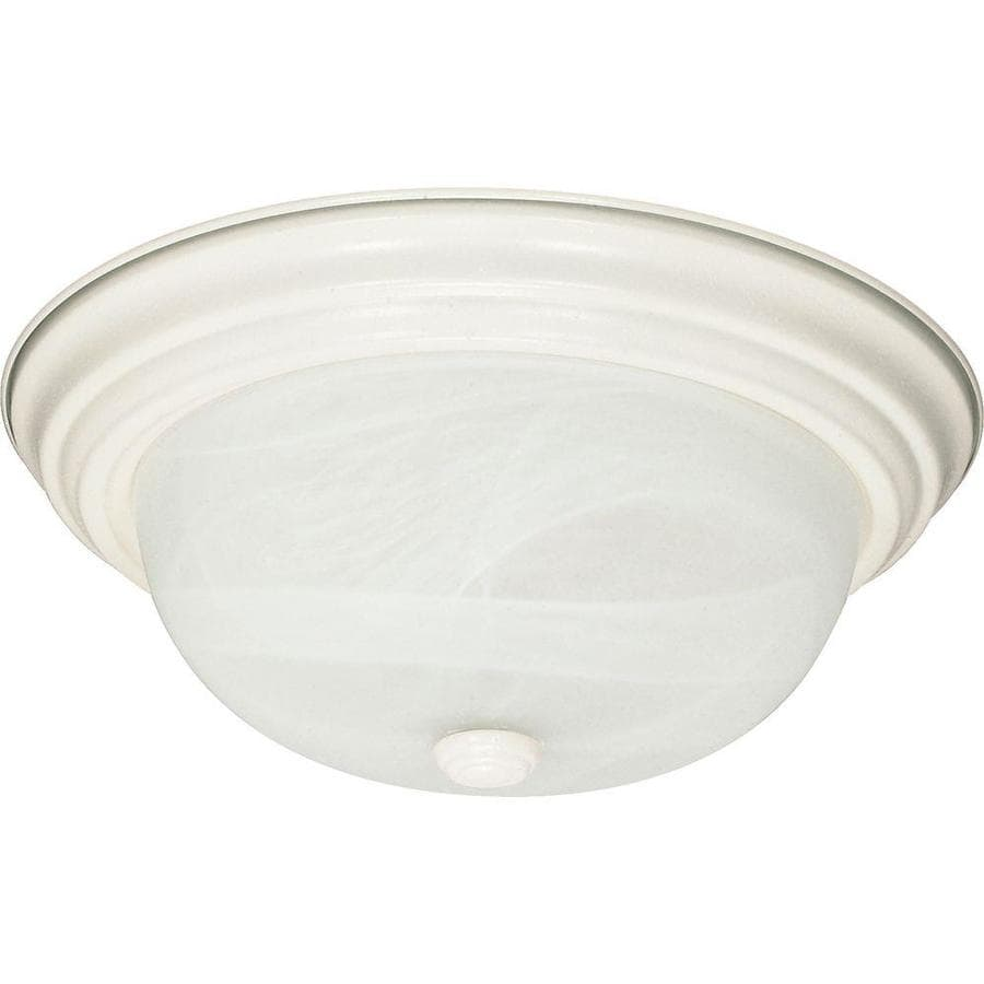 13.12-in W Textured White Ceiling Flush Mount Light