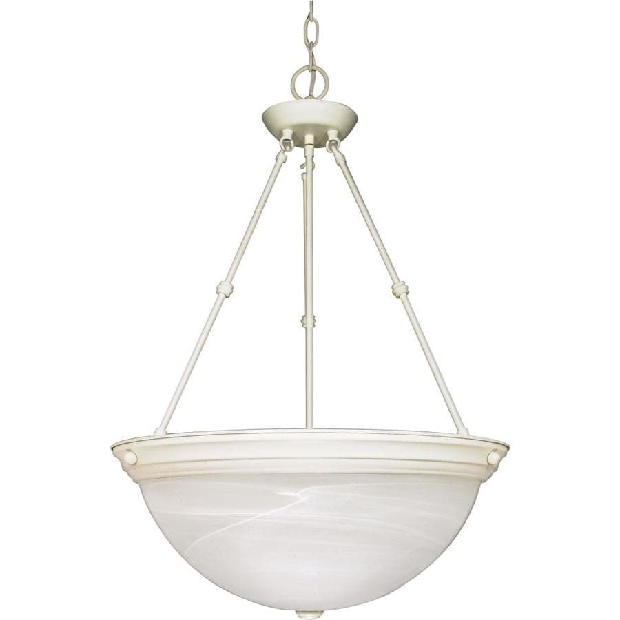 Vanguard 20.5-in Textured White Single Bell Pendant