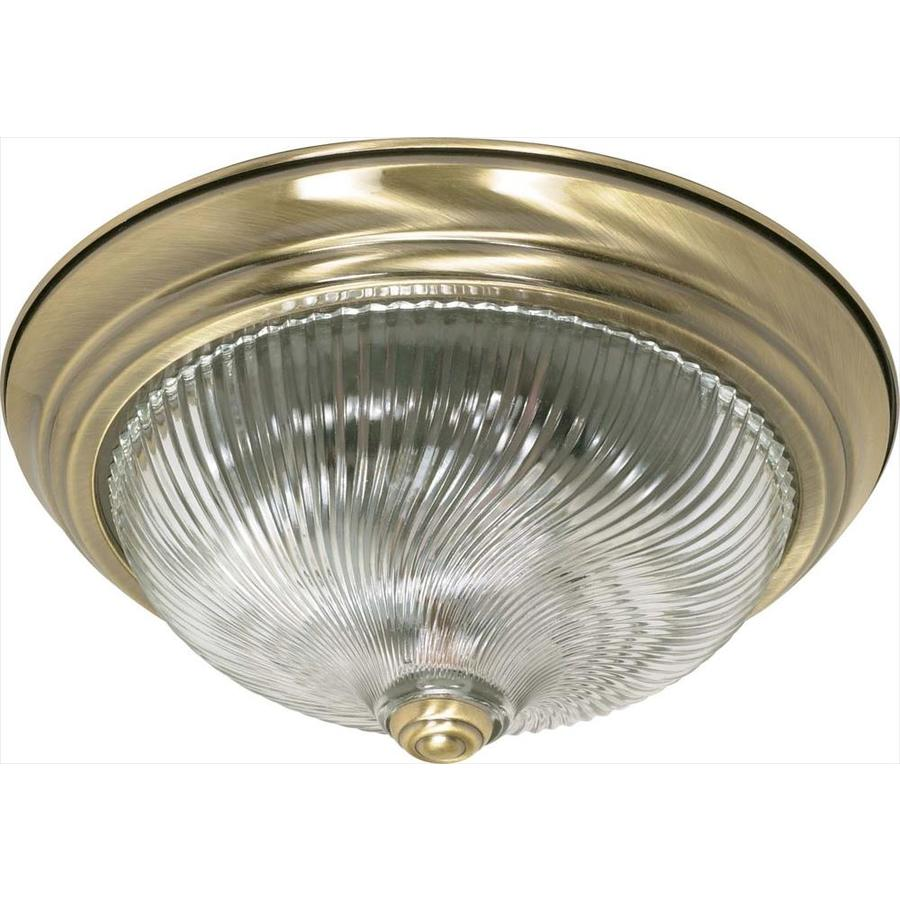 13.12-in W Antique Brass Ceiling Flush Mount Light