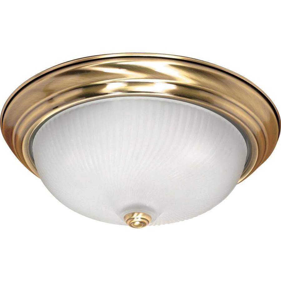 15.25-in W Antique Brass Ceiling Flush Mount Light
