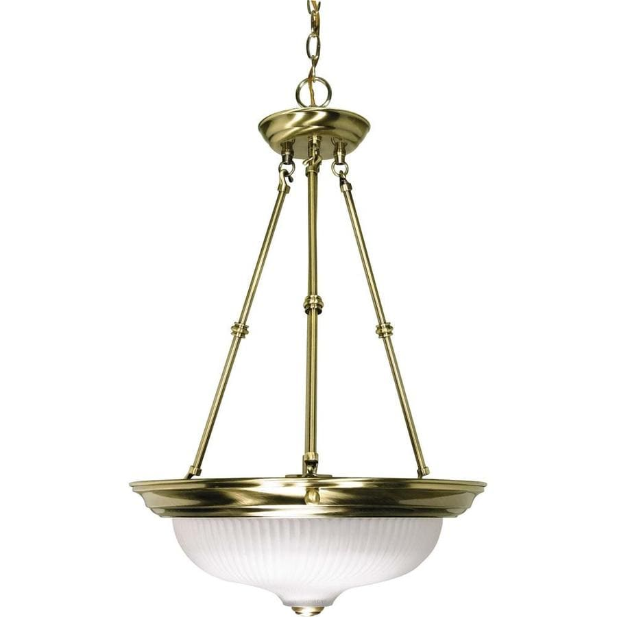 Vanguard 16-in Antique Brass Single Bell Pendant