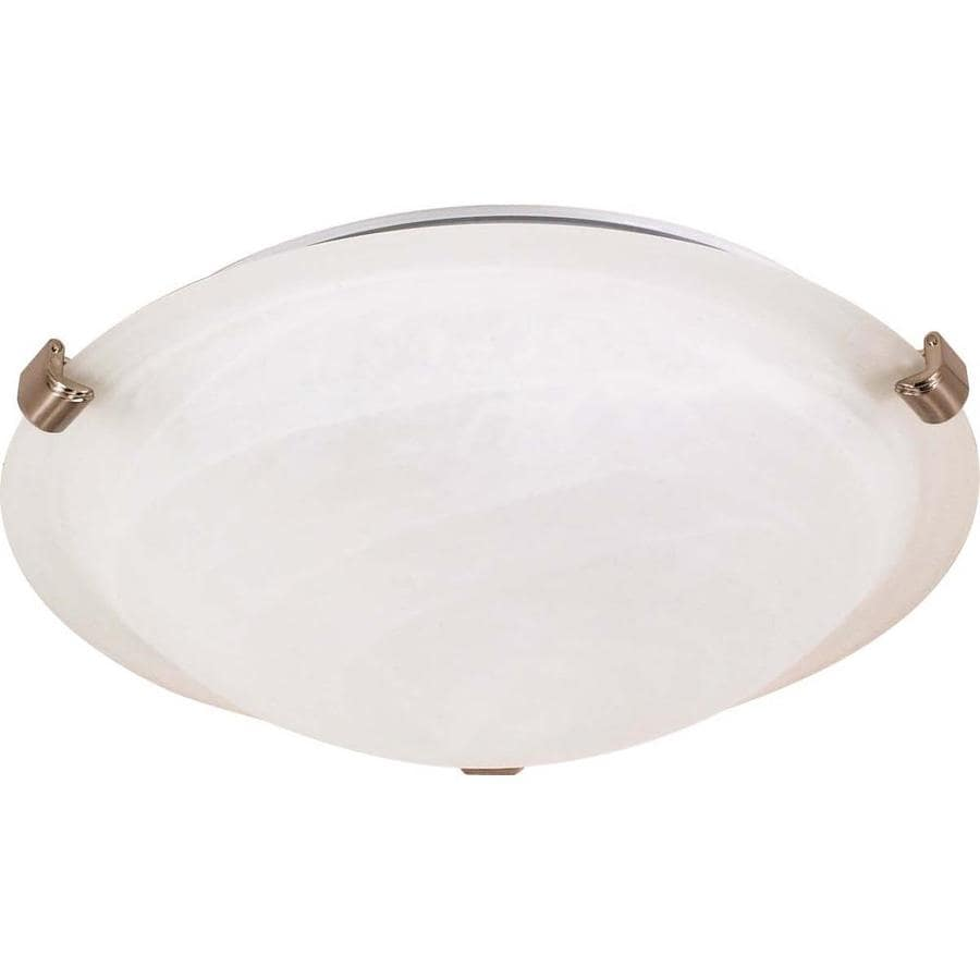 12.5-in W Brushed Nickel Standard Flush Mount Light