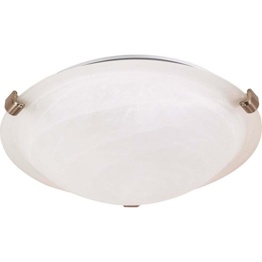 16.12-in W Brushed Nickel Standard Flush Mount Light