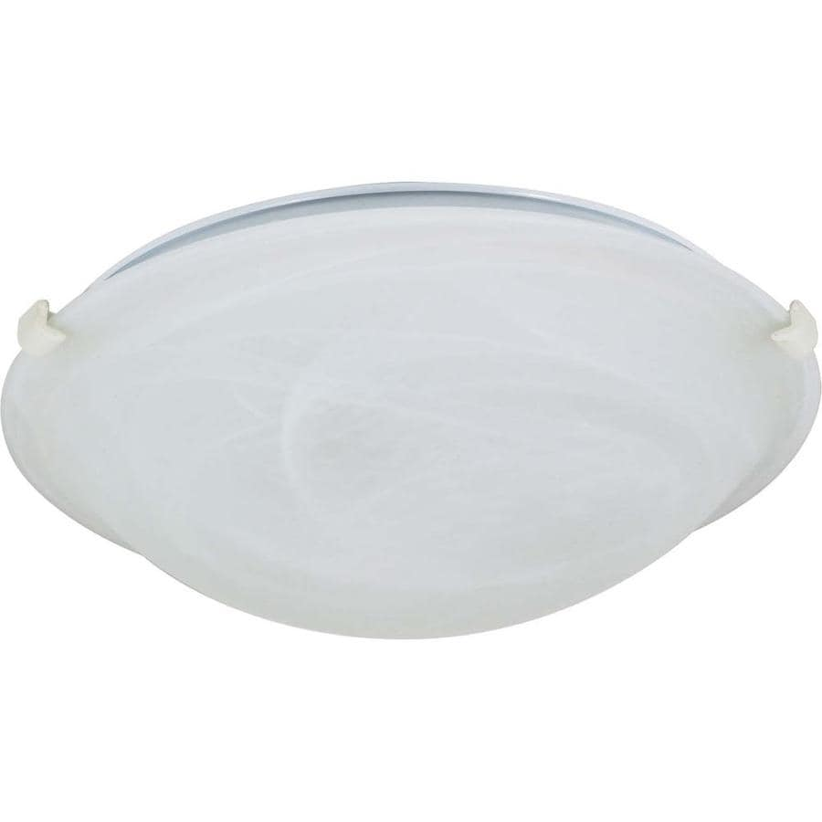 1-in W Textured White Flush Mount Light
