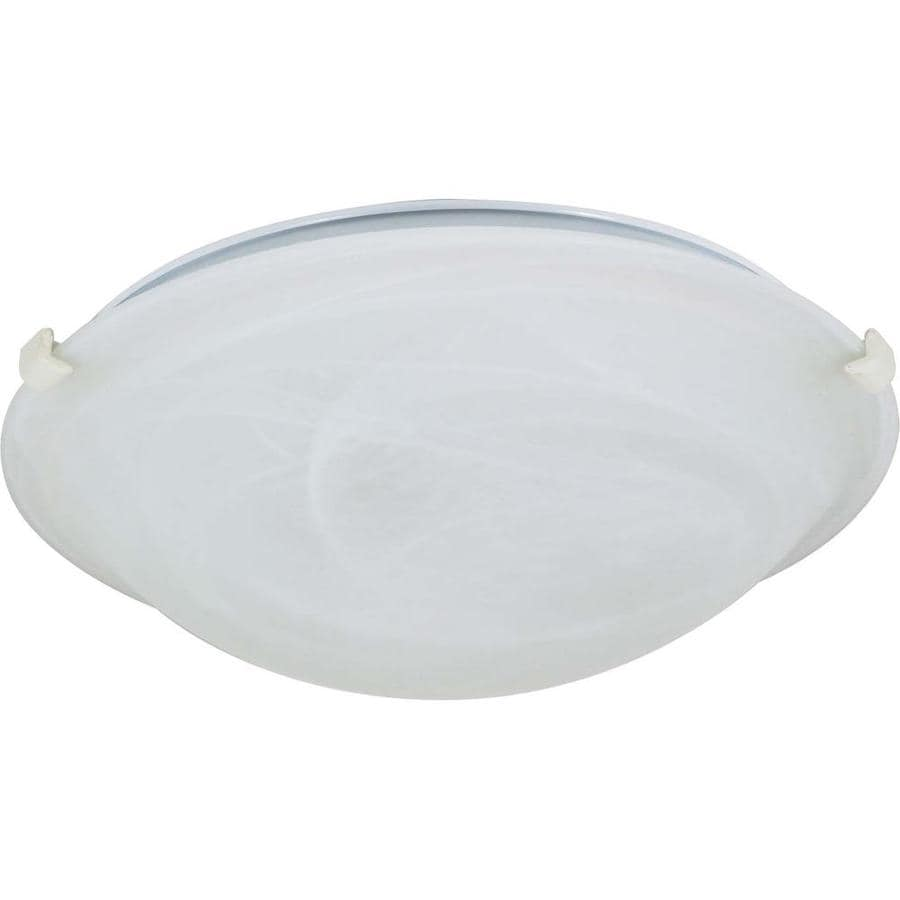 16.12-in W Textured White Ceiling Flush Mount Light
