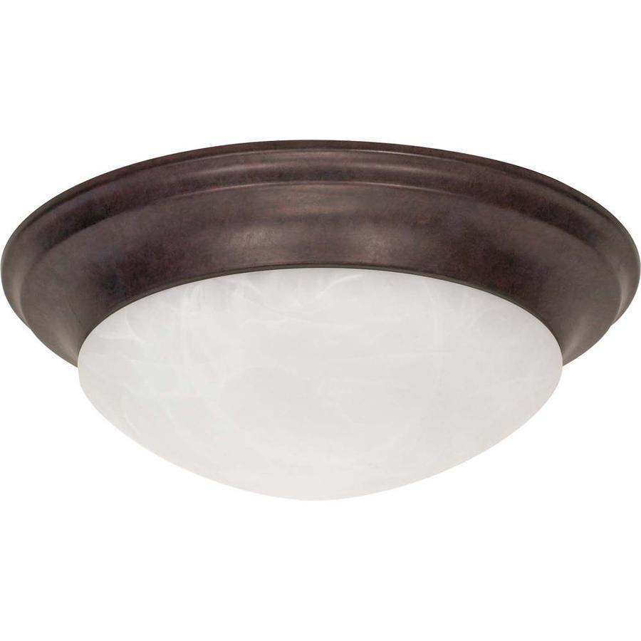 17-in W Old Bronze Standard Flush Mount Light
