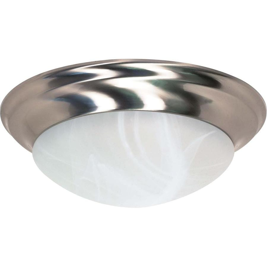 17-in W Brushed Nickel Ceiling Flush Mount Light