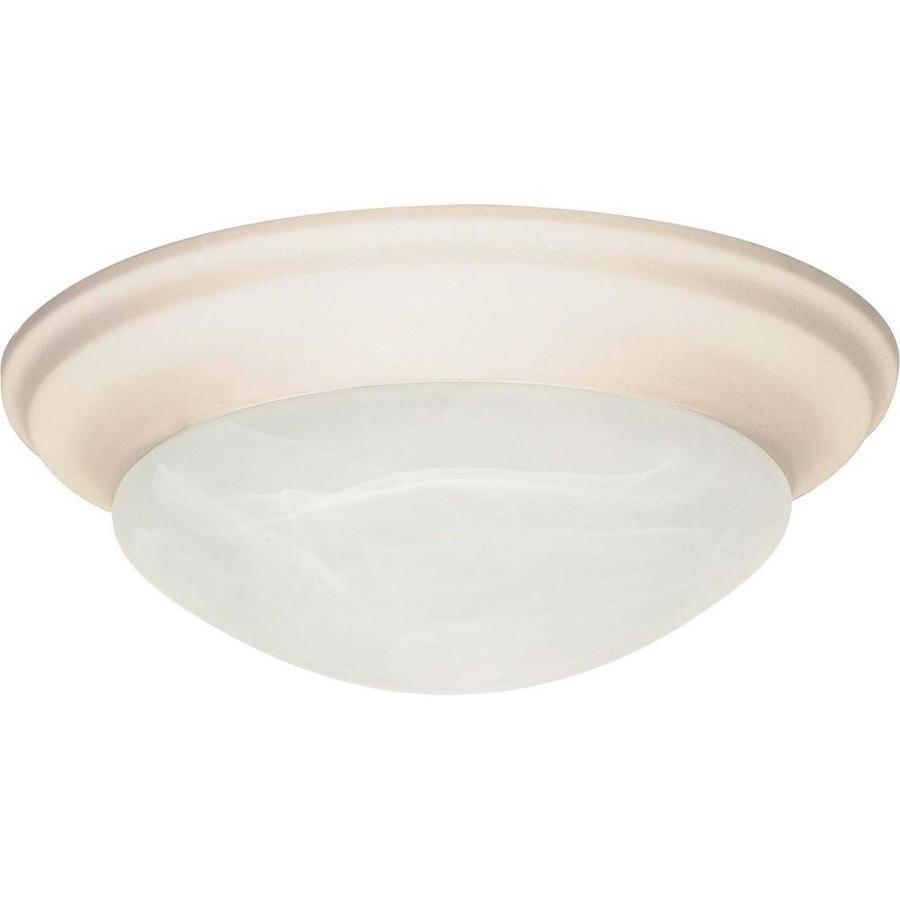 11.5-in W Textured White Ceiling Flush Mount Light