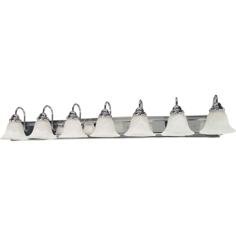 7-Light 7.625-in Polished Chrome Vanity Light