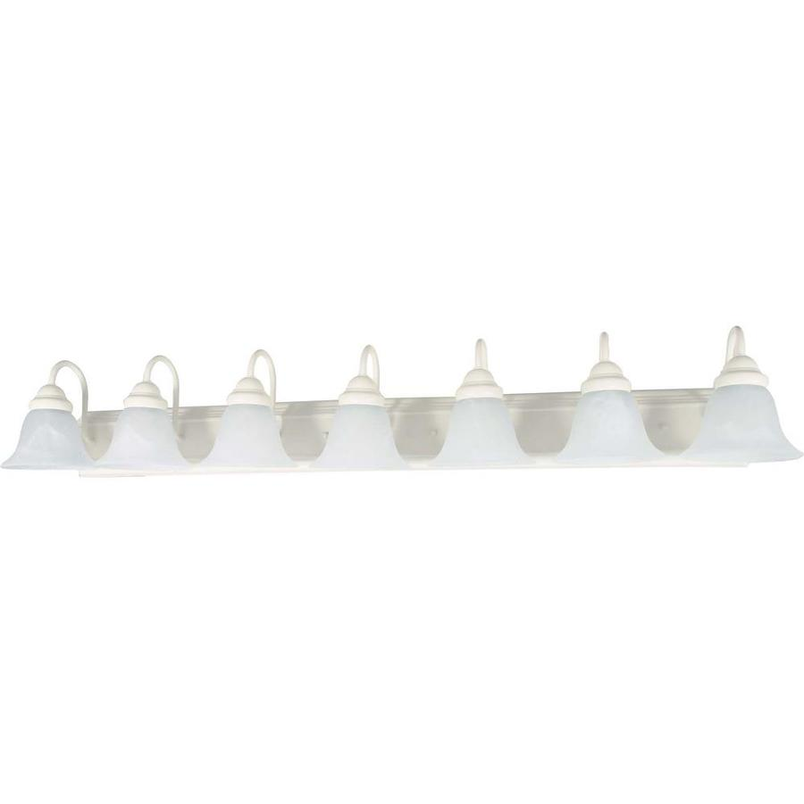 Ballerina 7-Light 7.625-in Textured white Vanity Light