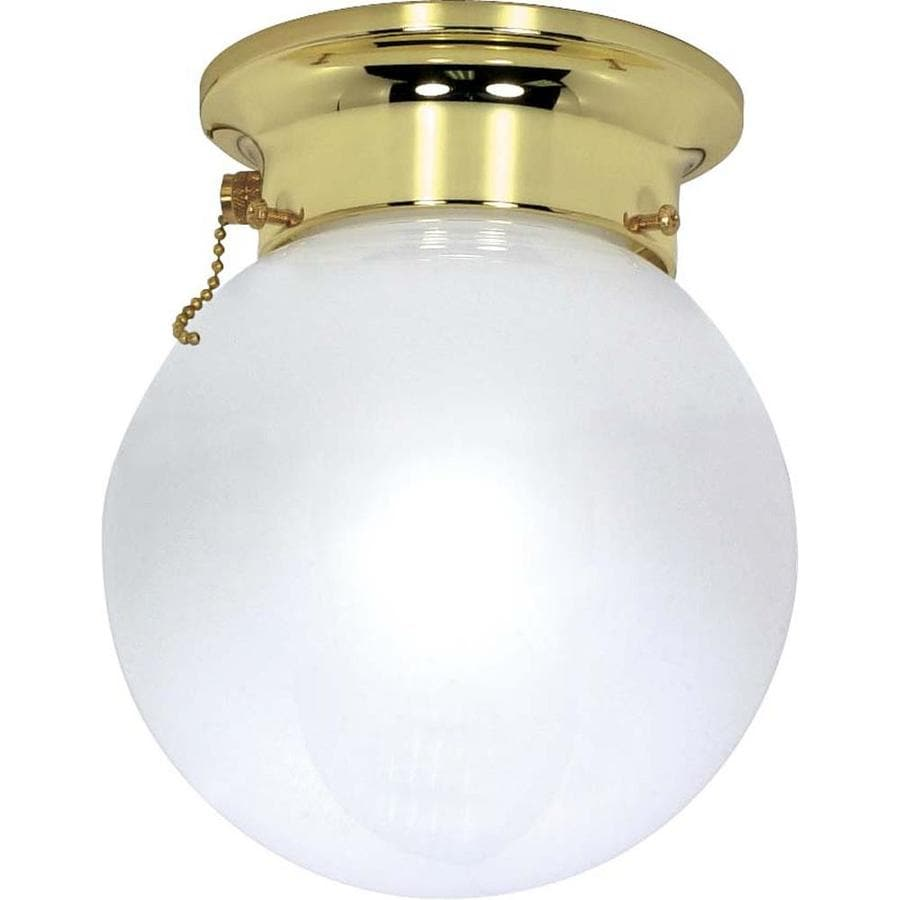 1-in W Polished brass Flush Mount Light
