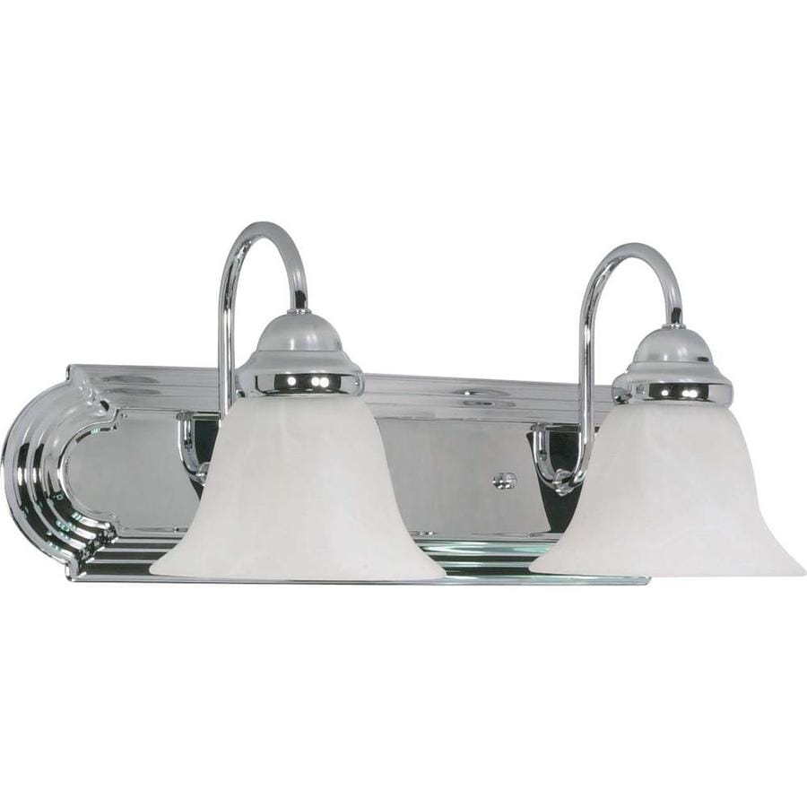 Ballerina 2-Light 7.625-in Polished Chrome Vanity Light