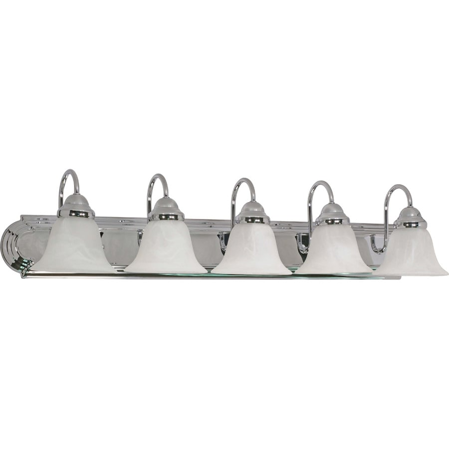 5-Light 7.625-in Polished Chrome Vanity Light