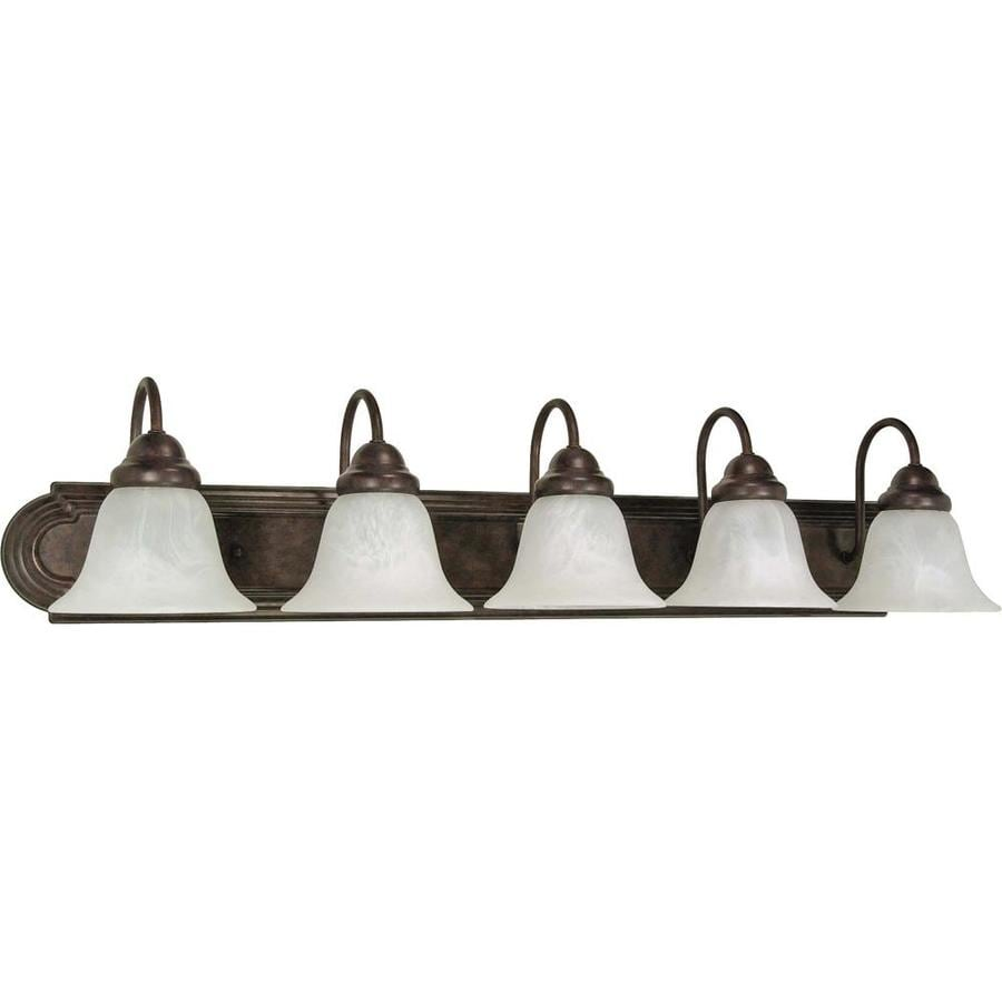 Vanity Lights Not Hardwired : Shop Ballerina 5-Light 7.625-in Old Bronze Vanity Light at Lowes.com