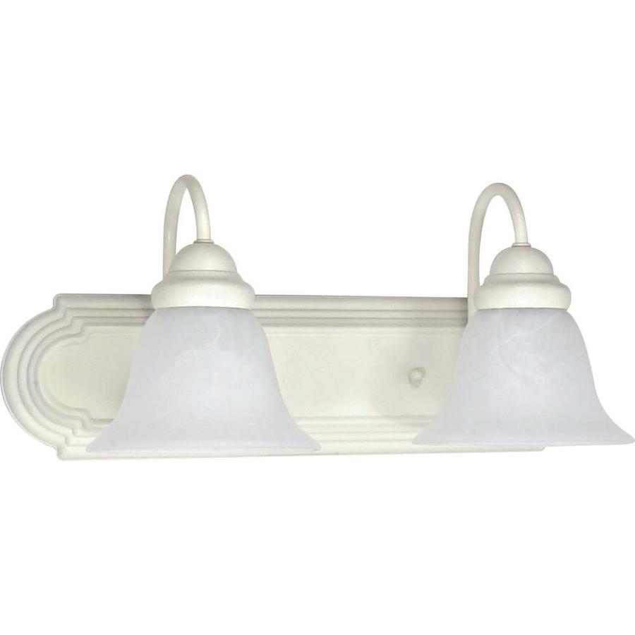 Ballerina 2-Light 7.625-in Textured white Vanity Light