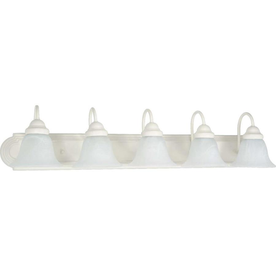 Vanity Lights White : Shop Ballerina 5-Light 7.625-in Textured White Vanity Light at Lowes.com