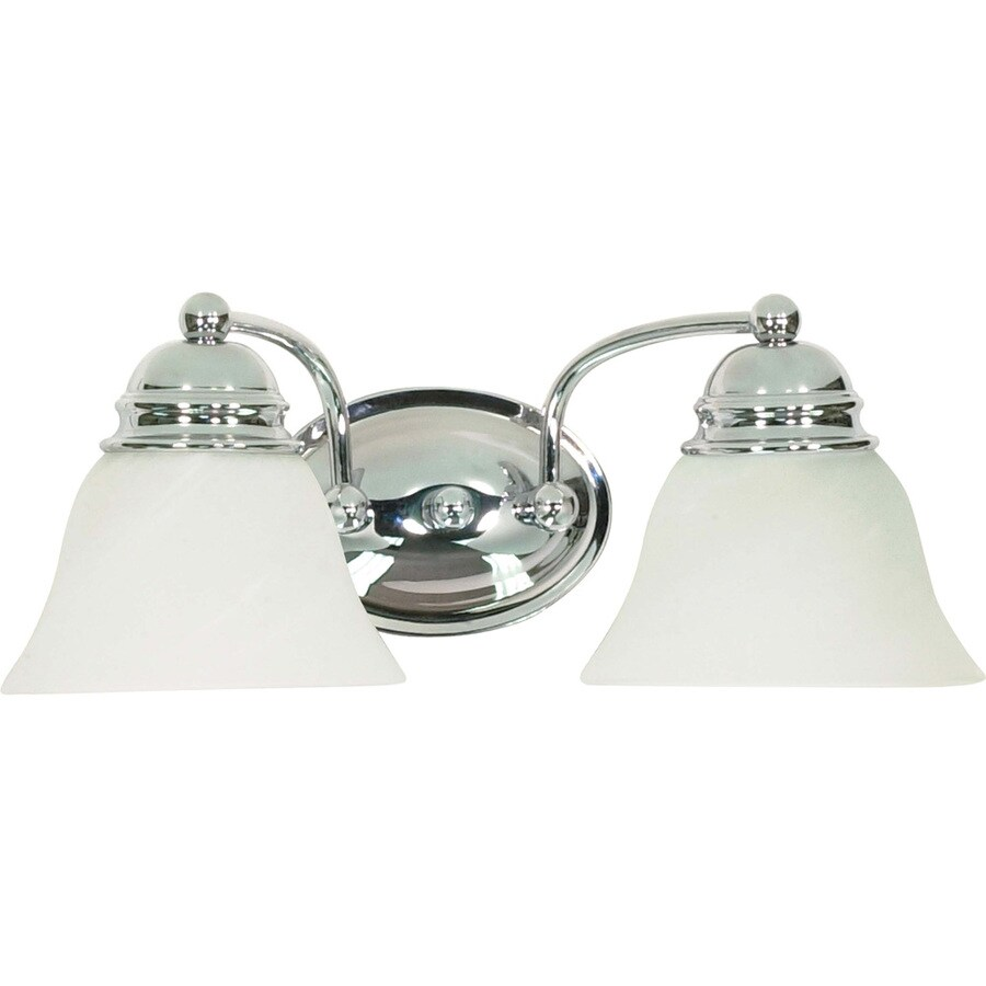 2-Light 6.5-in Polished Chrome Vanity Light