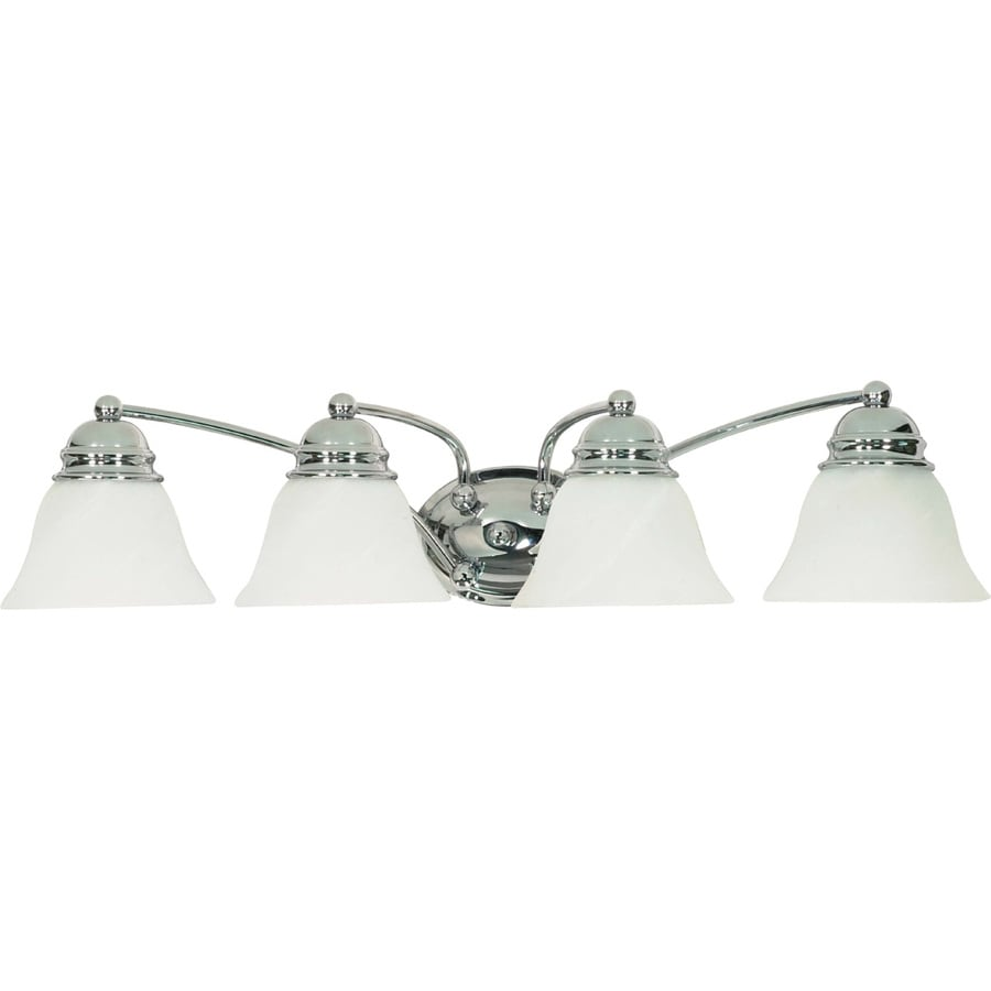 4-Light 6.5-in Polished Chrome Vanity Light