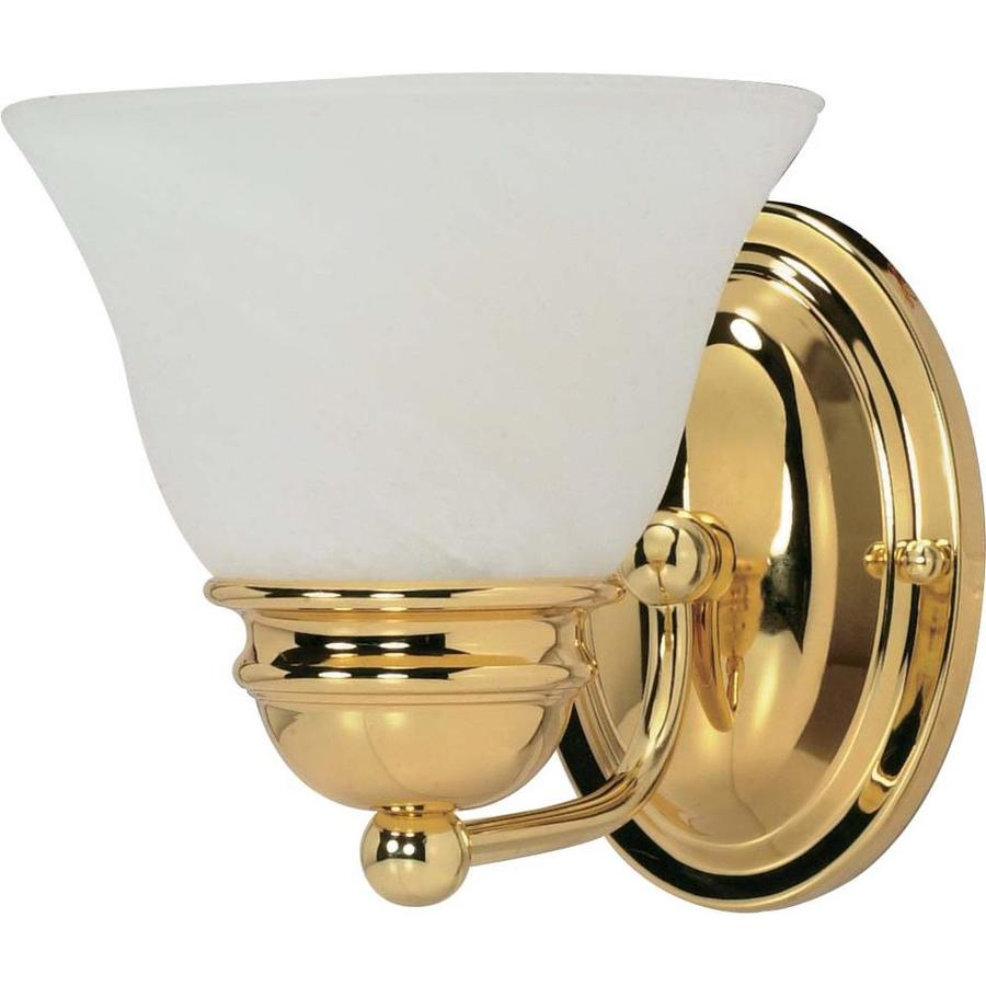 1-Light 6.5-in Polished brass Vanity Light