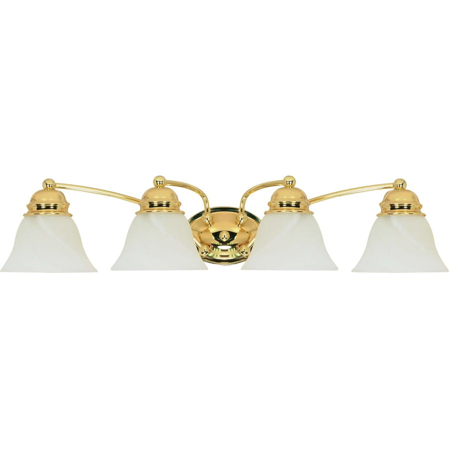 4-Light Polished Brass Vanity Light