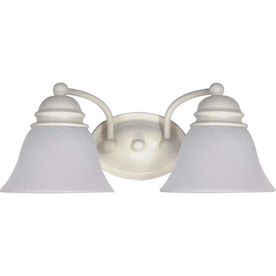 Vanity Lights White : Shop Ballerina 2-Light 6.5-in Textured White Vanity Light at Lowes.com