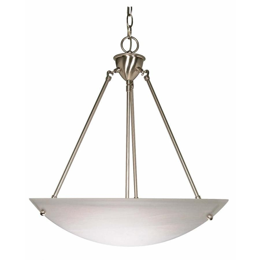Vanguard 22-in Brushed Nickel Single Bell Pendant