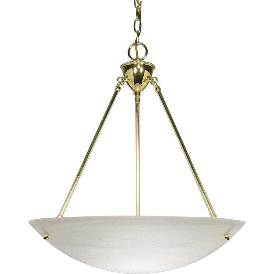 Vanguard 22-in Polished Brass Single Bell Pendant