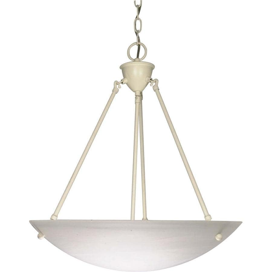 Vanguard 22-in Textured White Single Bell Pendant