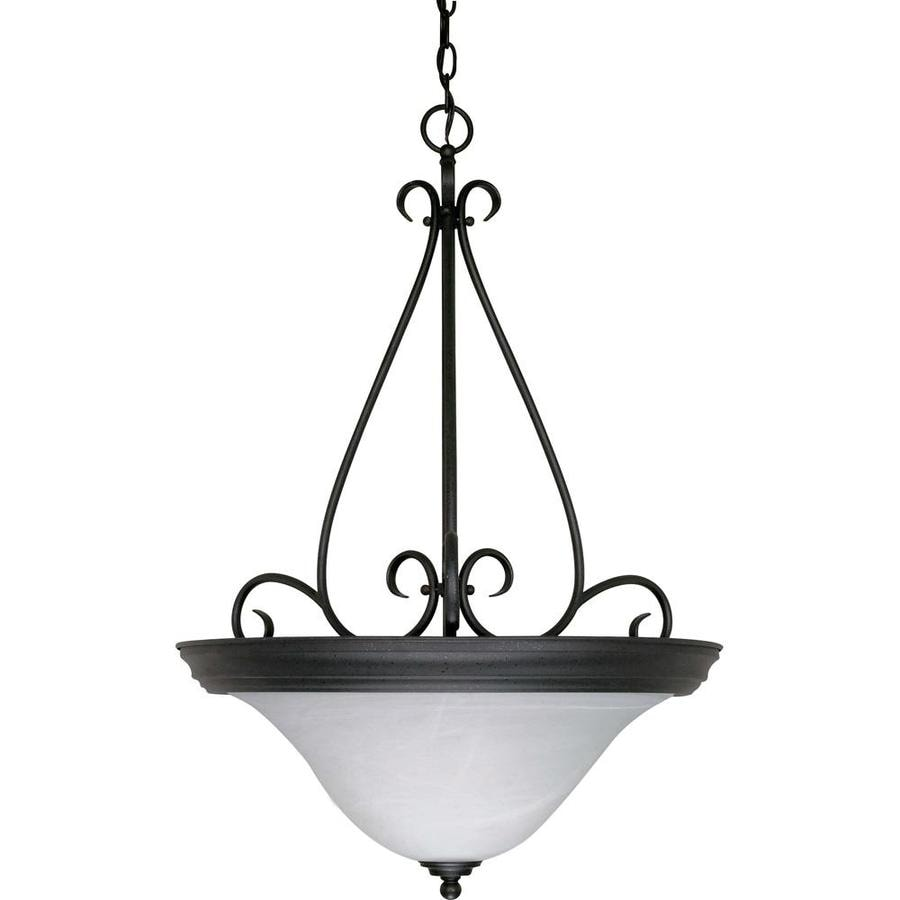 Castillo 19-in Textured Black Single Bell Pendant