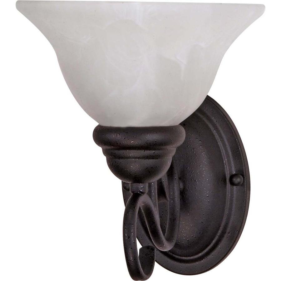 Castillo 9.25-in W 1-Light Textured Black Arm Wall Sconce