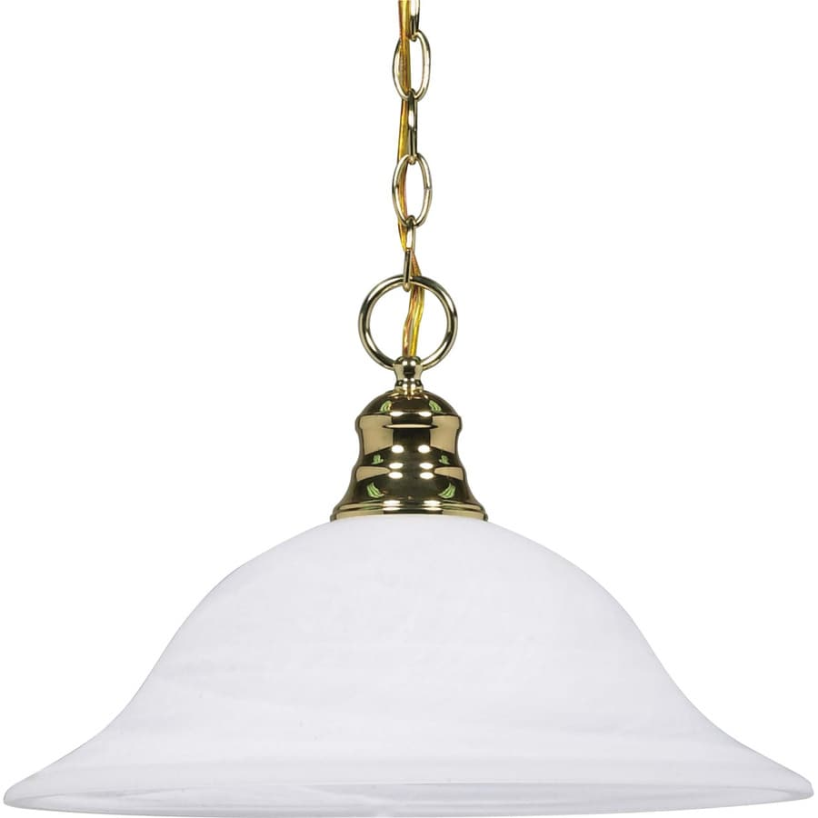 Rockport Tuscano 17.5-in Polished Brass Single Bell Pendant