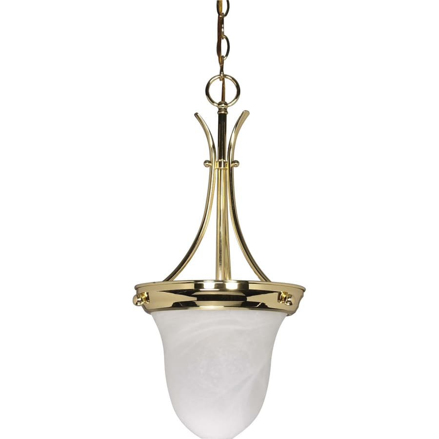 Tuscano 10-in Polished Brass Mini Bell Pendant