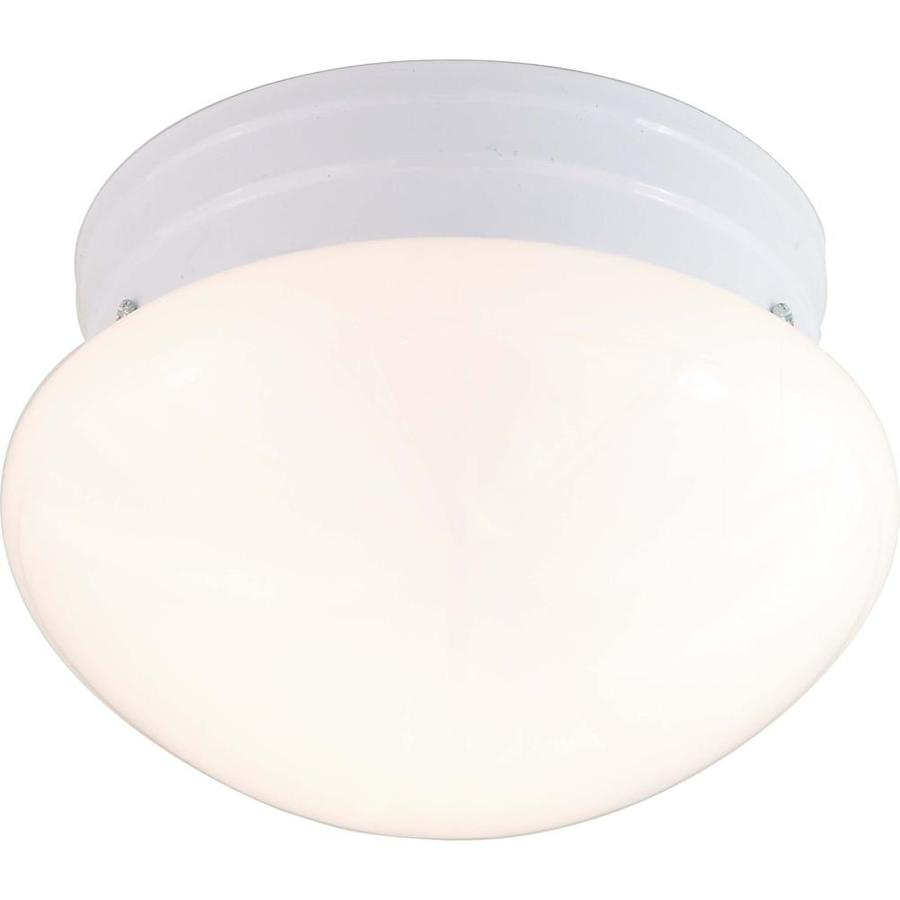 1-in W White Flush Mount Light