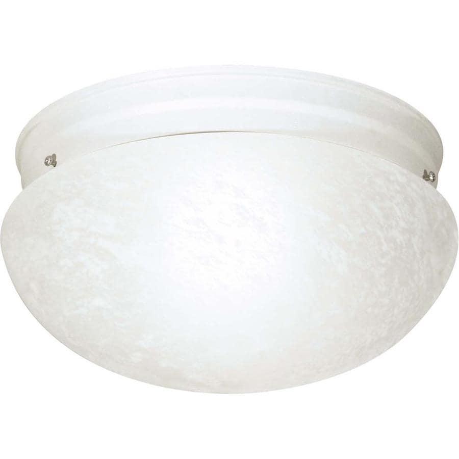 12-in W White Ceiling Flush Mount Light