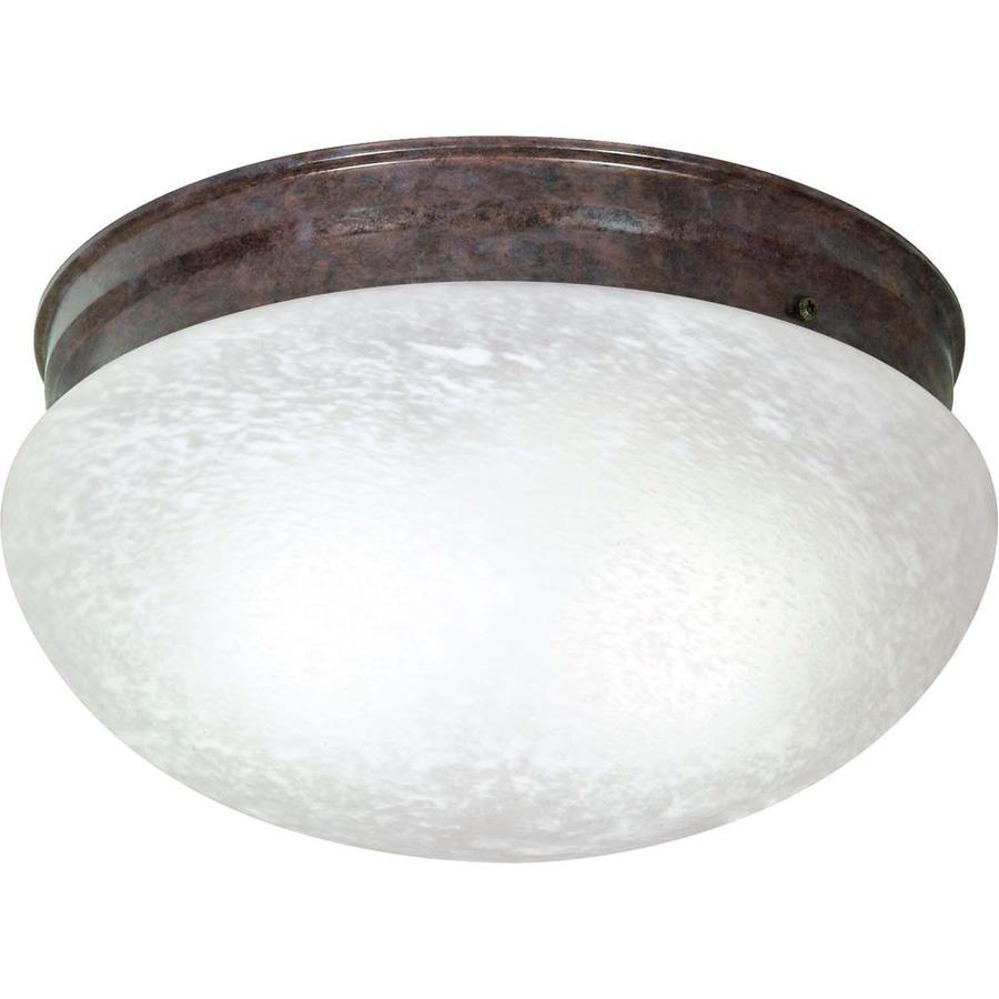 12-in W Old Bronze Ceiling Flush Mount Light