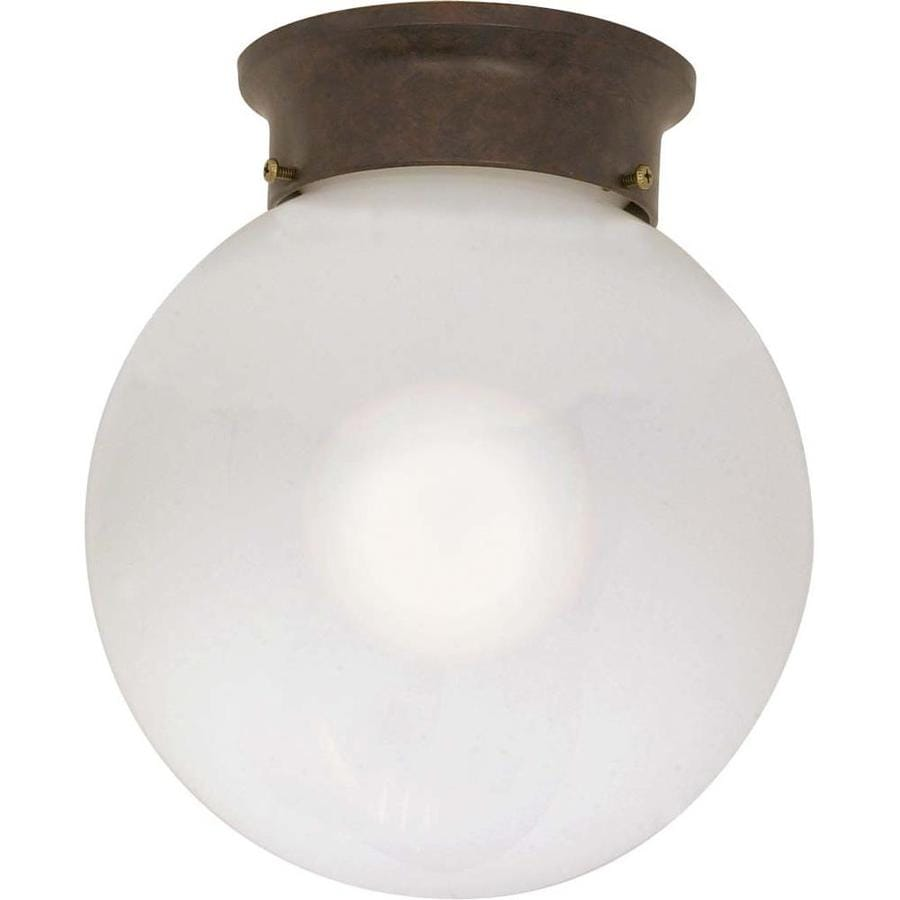 8-in W Old Bronze Flush Mount Light