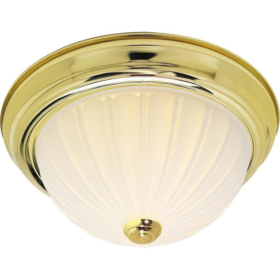 15-in W Polished Brass Standard Flush Mount Light