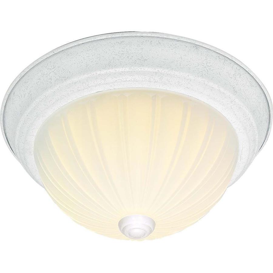 11-in W White Ceiling Flush Mount Light