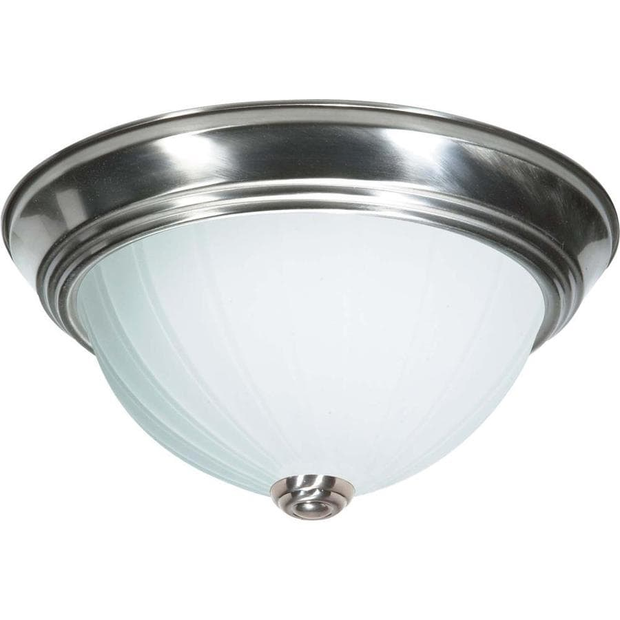 15-in W Brushed Nickel Ceiling Flush Mount Light