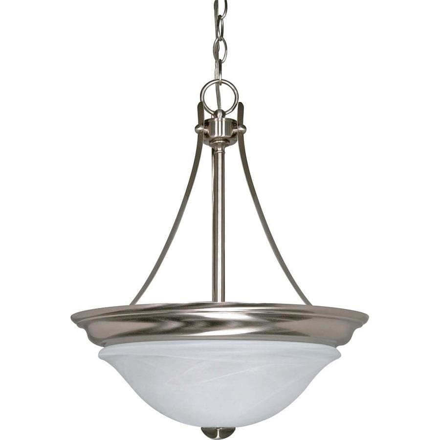 Triumph 17.75-in Brushed Nickel Mini Bell Pendant