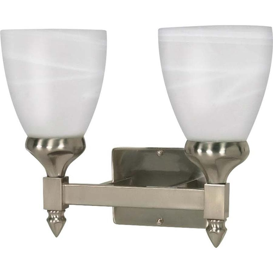 Triumph 2-Light 12-in Brushed Nickel Vanity Light